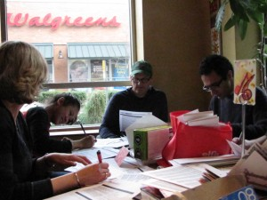 2011 Amnesty International Write-a-thon at Chaco Canyon Cafe